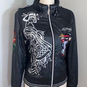 Ed Hardy Embroidered Bomber Jacket